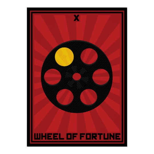 Wheel of Fortune Card Poster