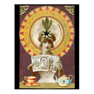 Wheel of Fortune Oracle Postcard