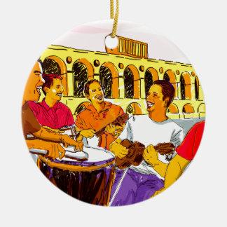 Wheel of Samba - Rio De Janeiro - Brazil Ceramic Ornament
