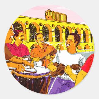 Wheel of Samba - Rio De Janeiro - Brazil Classic Round Sticker