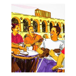 Wheel of Samba - Rio De Janeiro - Brazil Letterhead