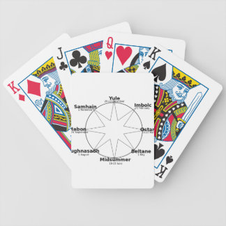 Wheel_of_the_Year Bicycle Playing Cards
