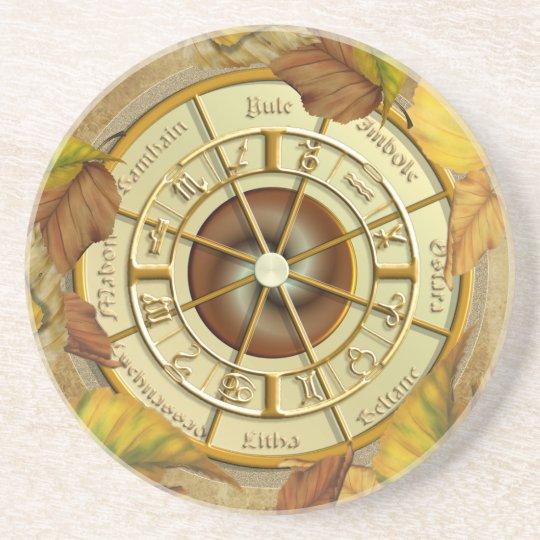 Wheel of the Year Sandstone Coaster