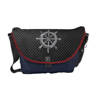 Wheel on Carbon Fiber style Commuter Bag