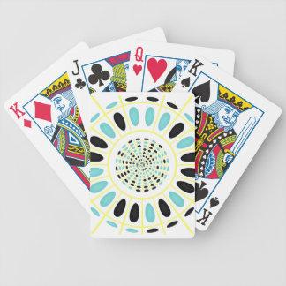 Wheel on white poker deck