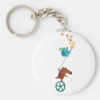 Wheel time basic round button keychain