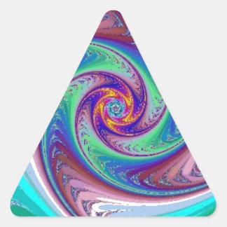 Wheel  Within Wheels Fractal Art Triangle Sticker