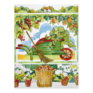 Wheelbarrow - garden surround 2012 postcard