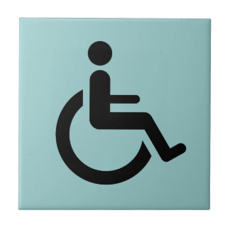Wheelchair Access - Handicap Chair Symbol Tile
