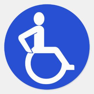 Wheelchair Accessibility Sign Round Sticker