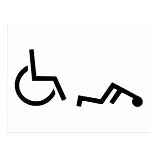 Wheelchair accident postcard