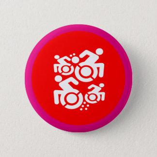 Wheelchair As Art 2 Inch Round Button