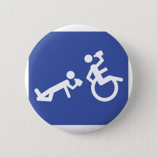 wheelchair boozer 2 inch round button
