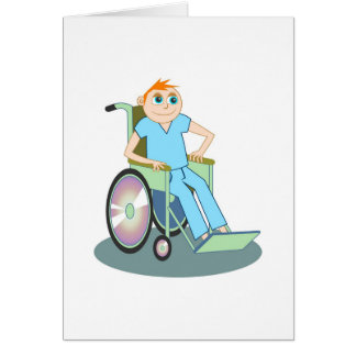 Wheelchair Boy Card
