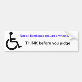Wheelchair bumper sticker