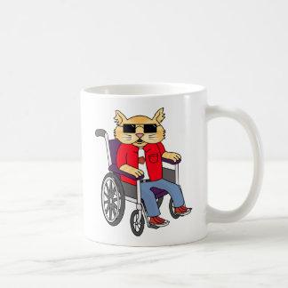 Wheelchair Cat Mug