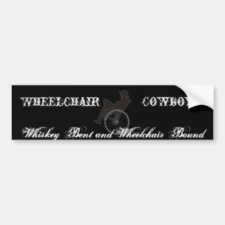 wheelchair cowboy bumper sticker