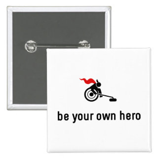 Wheelchair Curling Hero 2 Inch Square Button