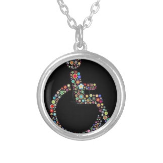 wheelchair_funky_zazzle.jpeg silver plated necklace
