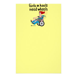Wheelchair Girl in Heels Stationery