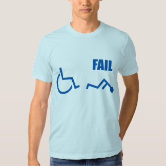 wheelchair handicapped fail pwned owned tshirt