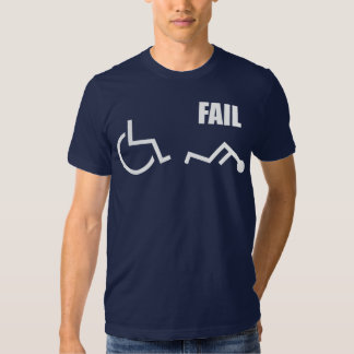 wheelchair handicapped fail pwned owned tshirts