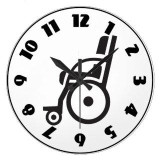 Wheelchair Icon Clock