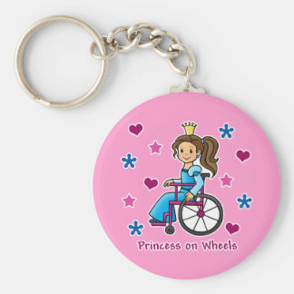 Wheelchair Princess Keychain
