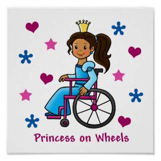 Wheelchair Princess Print