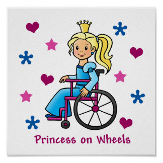 Wheelchair Princess Posters
