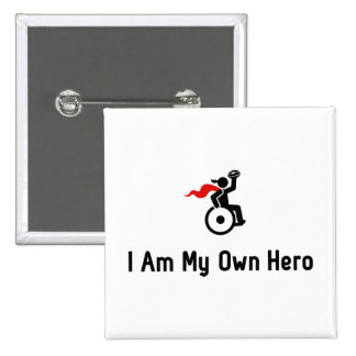 Wheelchair Rugby Hero 2 Inch Square Button