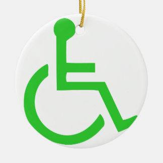 Wheelchair Symbol Ceramic Ornament