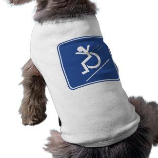 Wheelchair Whee! Dog T Shirt