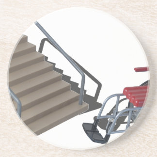 WheelchairAndStairs080214 copy Beverage Coasters
