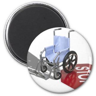 WheelchairStopSign103110 2 Inch Round Magnet