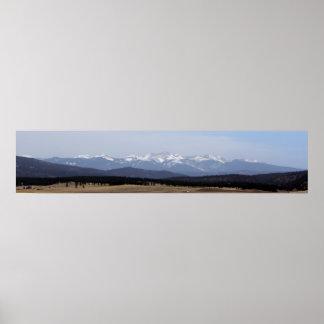Wheeler Peak from Black Lake, New Mexico Poster