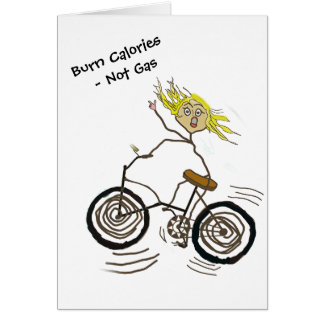 Wheeley the Happy Bicycler Burns Calories Not Gas Card