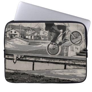 Wheelie Master - BMX Biker Laptop Sleeve