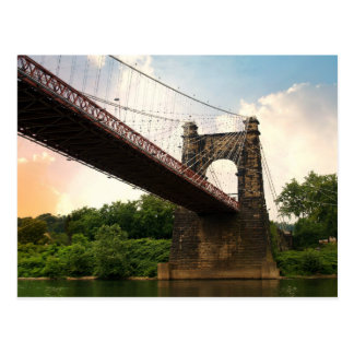 Wheeling Suspension Bridge Postcard