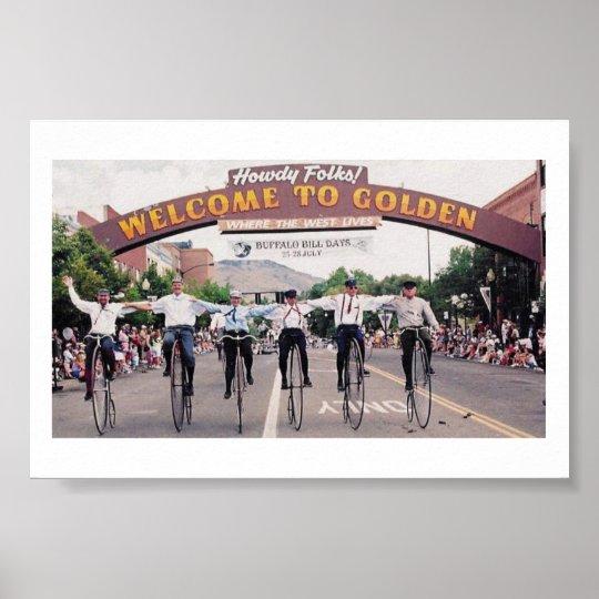 Wheelmen in Golden, Colorado Poster