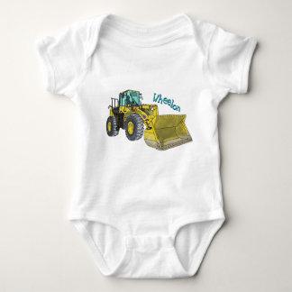 Wheelon construction vehicle wheel loader wheel baby bodysuit