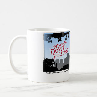 Wheels Down Politics coffee mug