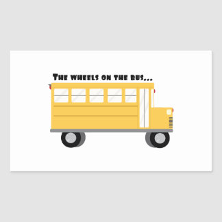 Wheels On Bus Sticker