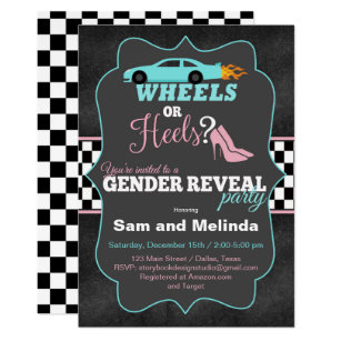 image regarding Free Printable Gender Reveal Invitations named Gender Describe Invites Zazzle.ca