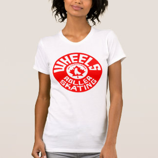 Wheels Red/White Print T-Shirt