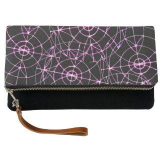 Wheels Spinning Clutch Bag