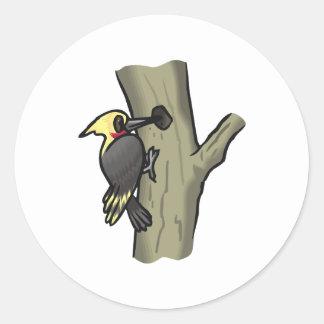 Wheezy Woodpecker Round Sticker
