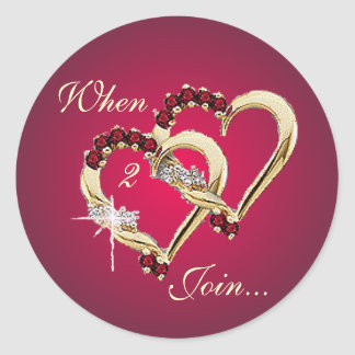 WHEN 2 HEARTS JOIN by SHRON SHARPE Classic Round Sticker