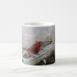 When a cardinal appears in your yard... coffee mug
