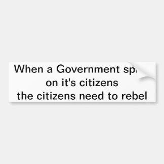 When a Government Bumper Sticker